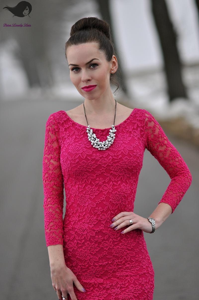 cb57c6033bb0 OOTD - jarní fuchsiové šaty - PetraLovelyHair