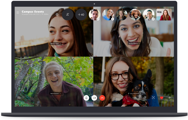 Skype Voip: Call conferencing with up to 50 people group at once with Skype!
