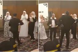 "(Video)""Baru Nak Joget Sama-Sama, Suami Dah Sampai"", Gelagat Lucu Keluarga Ini Usik Hati Netizen"