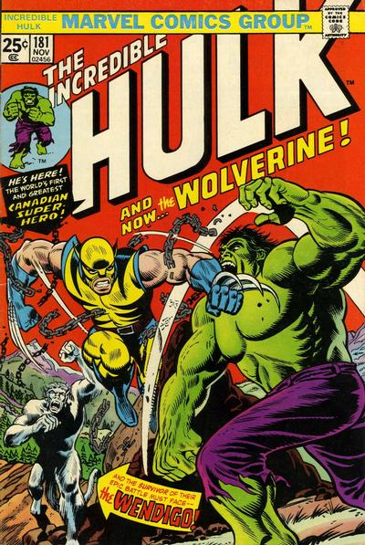 Incredible Hulk #181, Wolverine and the Wendigo