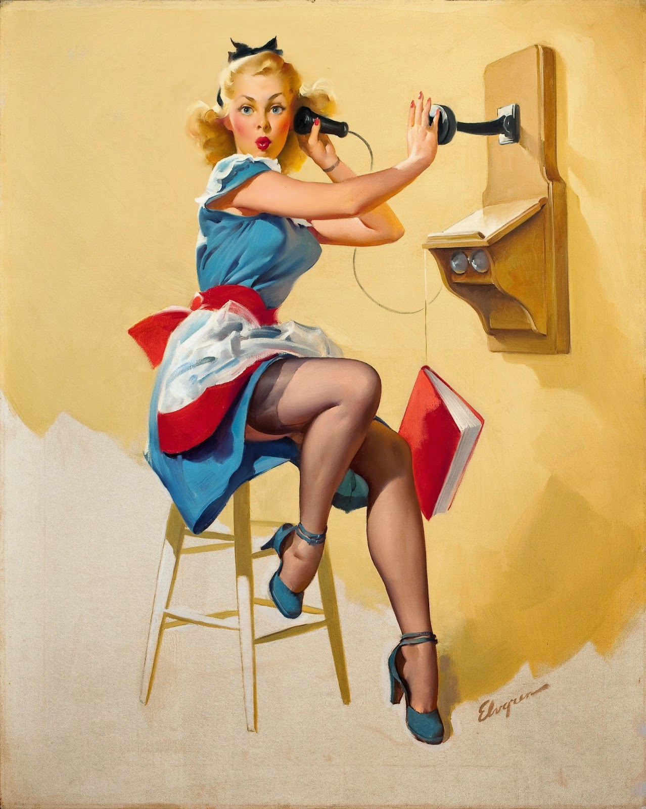 gil elvgren pin up and cartoon girls art vintage and. Black Bedroom Furniture Sets. Home Design Ideas