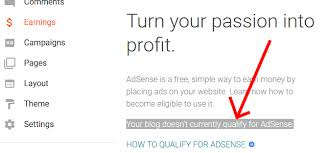 How to fix your blog doesn't currently qualify for adsense