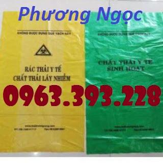 Túi rác y tế, túi đựng chất thải y tế, túi rác bệnh viện có logo y tế E55df37bec2a15744c3b