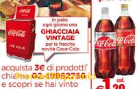 Logo Con Coca-Cola vinci ogni giorno la ghiacciaia Vintage