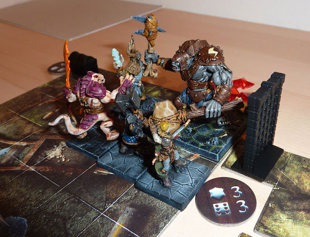 A report from Dungeon Saga, Warlord of Galahir - Mission 4: The Bouncers.