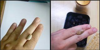 Penjelasan Nabi meletakkan biji kurma diantara kedua jarinya