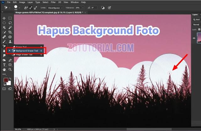 Tutorial Hapus Background Objek Foto Rumit dengan Photoshop by zotutorial.com