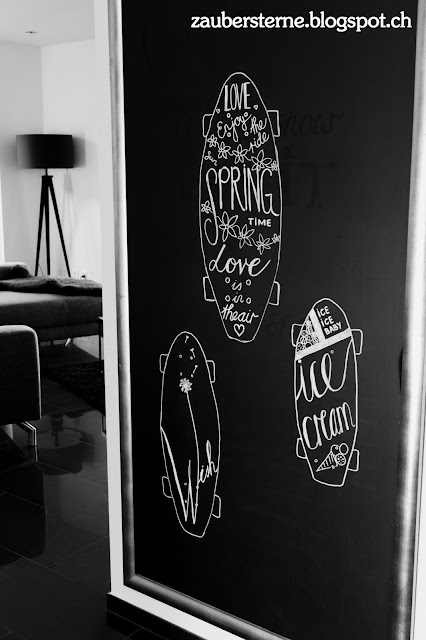 Skateboard Lettering, Chalkboard sport Kreativblog Schweiz, Blog Schweiz, enjoy the ride