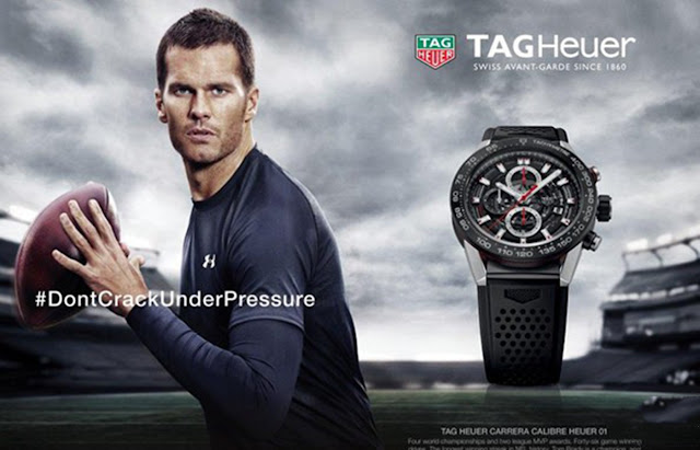 What watch does Tom Brady wore? Tag Heuer Carrera Heuer 01 Chronograph Watch Replica