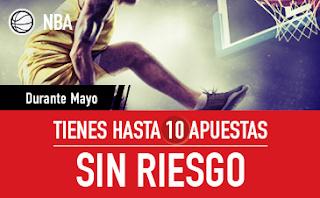 sportium promocion 10 devoluciones nba mes de mayo