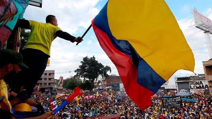 Manifestantes voltam às ruas na Colômbia