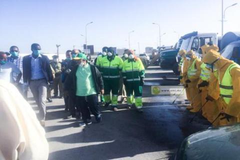 Nouadhibou : L'Autoritè de la Zone France chevauche l'arc des petites societès contre le Corona-virus