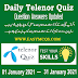 Telenor Quiz January 2021 Question Answers 50 MB
