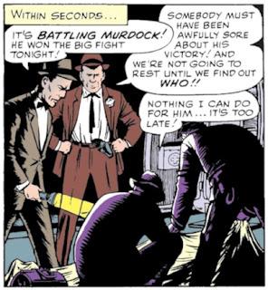 Daredevil #1, Battling Murdock's body is discovered