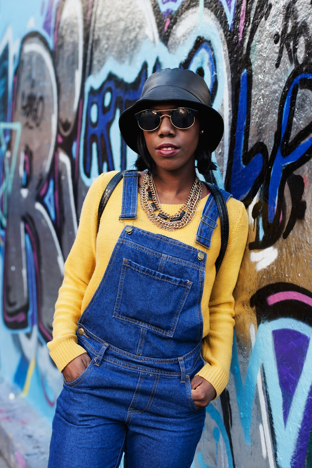 5 Reasons Why Boohoo will Always be my favourite online retailer, boohoo dungarees, yellow h&m jumper, suzi oven photography, heather chambers uk fashion & lifestyle blogger, fashion, boohoo clothes, leake street, leake street tunnel