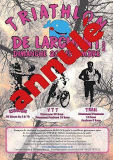 Annulation du Triathlon de Larchant 2020