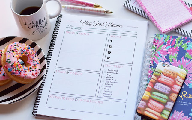 Blog Post Planner Page Printable Free
