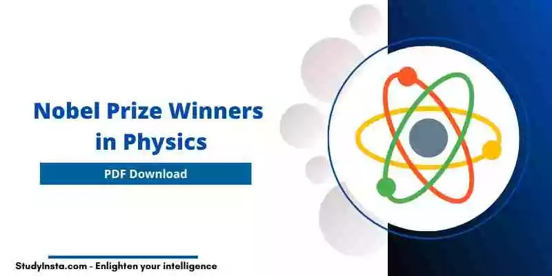 [PDF] List of Nobel Prize Winners in Physics  - 1901 to 2020