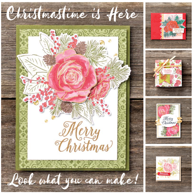 Stampin' Up!'s Christmastime is Here Medley project samples