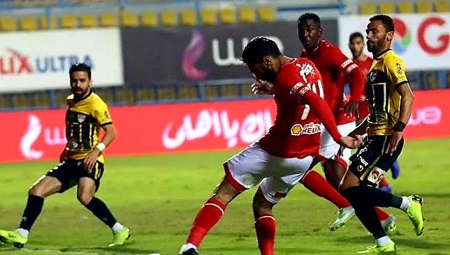 اهداف مباراة الاهلي والانتاج الحربي في الدوري المصري