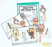 Where the Wild Things Are Take Home Book Pack, www.JustTeachy.com