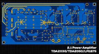 TDA2030 TDA2050 LM1875 2.1 Power Amplifier Stereo + Subwoofer