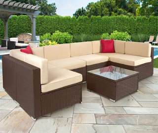 Best Choice Products 7PC Furniture Sectional PE Wicker Rattan Sofa Set Deck Couch Brown, Best Choice Products Rattan Wicker Sofa Sets, Outdoor Sofa Sets, Outdoor Sofas, Outdoor Furniture, Best Choice Products, Best Choice Products Wicker Sofa Sets, Outdoor Sofa Sets, Sofa Sets, Wicker Sofa Sets,