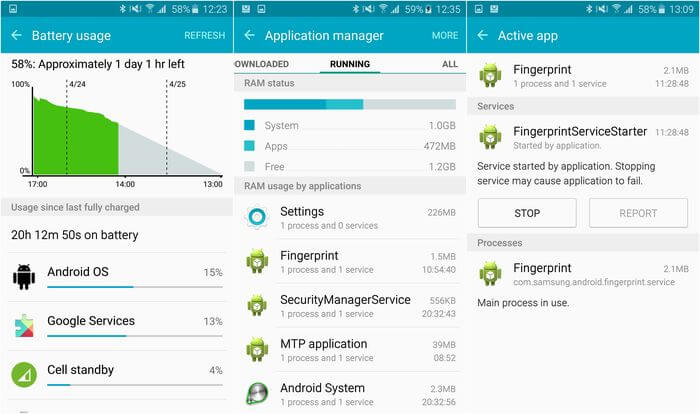 Energy conservation: how to increase the autonomy time of Android smartphone?