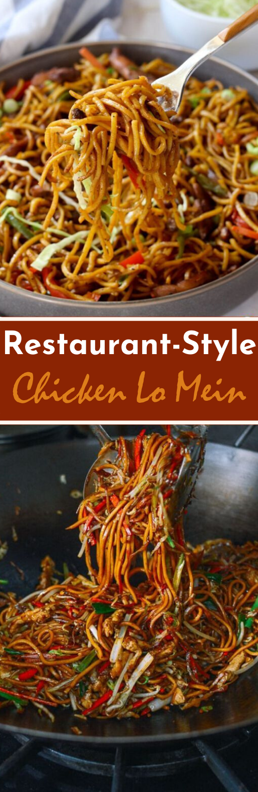 Restaurant-Style Chicken Lo Mein #chinese #dinner #noodles #recipe #takeout