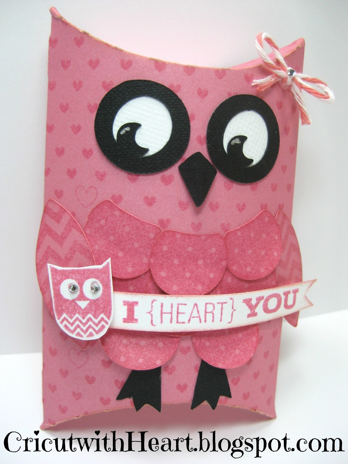 Cricut With Heart Pillow Box Owl