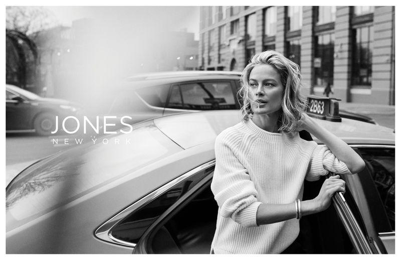 Carolyn Murphy appears in Jones New York fall-winter 2019 campaign