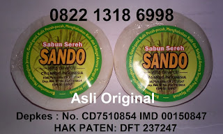 Harga Jual Sabun Sereh SANDO asli BPOM Original Murah