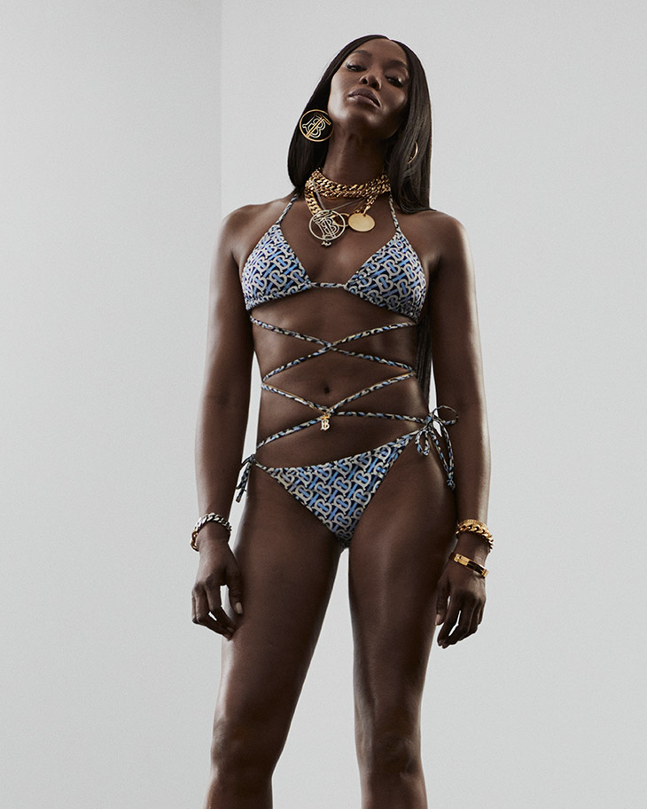 Naomi Campbell stars in the Burberry TB Summer Monogram Campaign