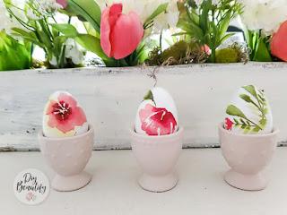 cottage floral eggs