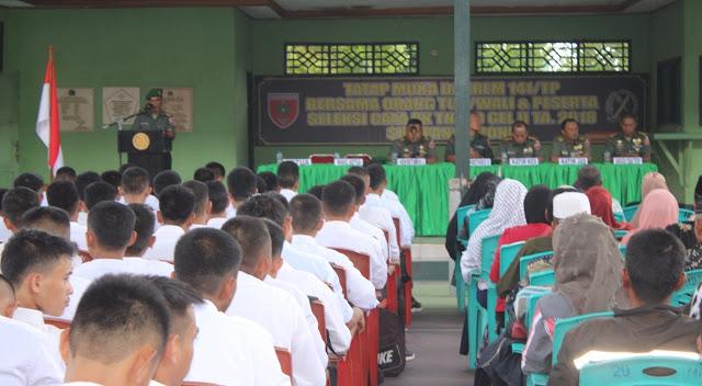 Korem 141/Tp Beri Penjelasan Masyarakat Tatacara Menjadi TNI AD