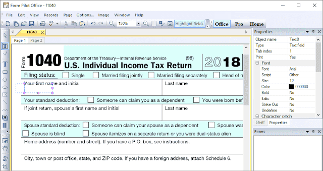 Screenshot Form Pilot Office 2.73 Full Version