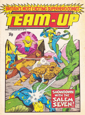 Team-Up #14, Marvel UK, the Salem Seven vs the Fantastic Four