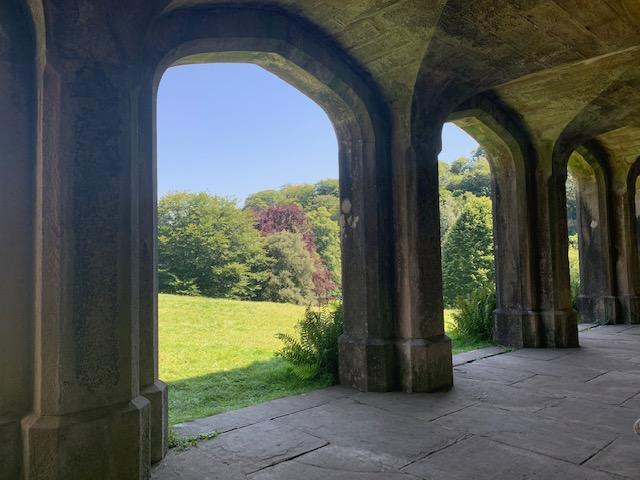 Stone arches at Ilam Park, on a beautiful day