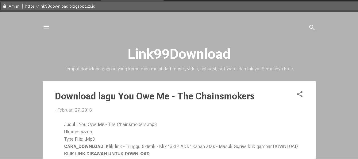 Website Download Lagu Favorit