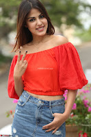 Rhea Chakraborty in Red Crop Top and Denim Shorts Spicy Pics ~  Exclusive 223.JPG