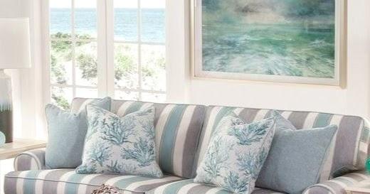 Striped Sofa Ideas For A Coastal Nautical Amp Beach Style