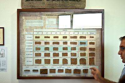 Panel de calidades de corcho