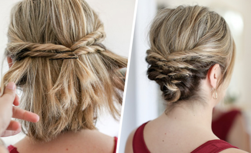 Easy bun hairstyles for people with short hair