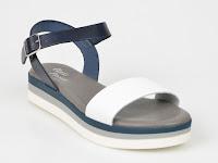 Sandale FLAVIA PASSINI bleumarin, din piele naturala
