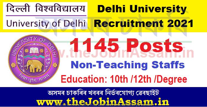 Delhi University Recruitment 2021