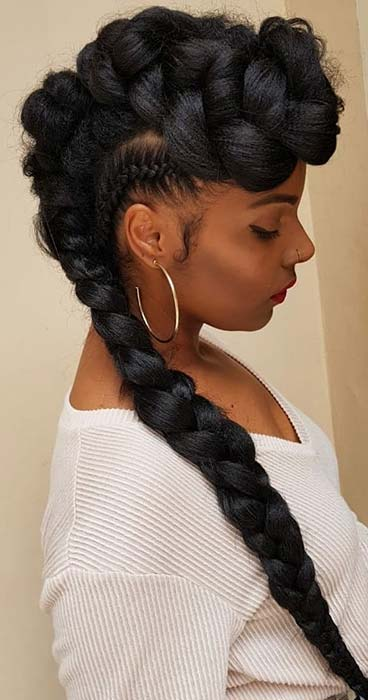 39+ Latest Mohawk Braid Hairstyles Ponytails That Will Get You ...