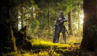 Medieval Knight in a Forest