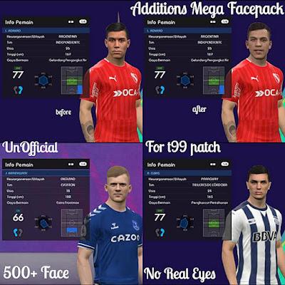 Additions Mega Facepack T99 Patch V5