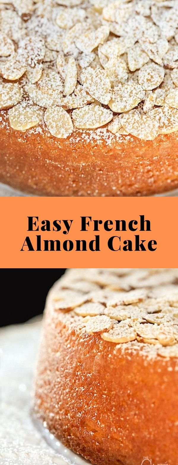 Easy French Almond Cake #cake