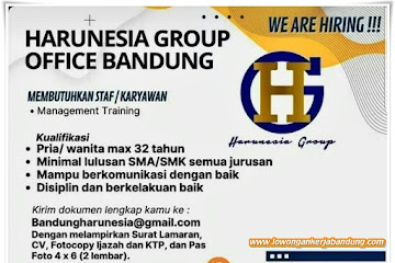 Loker Bandung Staff Harunesia Group